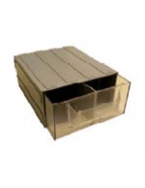 Κιβώτιο συρταρωτό µεγάλου µεγέθους µε διαχωριστικά 29x25x12cm