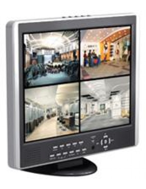 "88018 DVR KD-854m H.264 4channel With Integrated 15"" LCD Monitor"