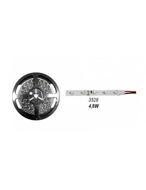 ΤΑΙΝ.LED ΛΕΥΚΗ ΑΥΤ.5m 12VDC 4.8W/m 60LED/m 3528 ΨΥΧΡΟ IP20