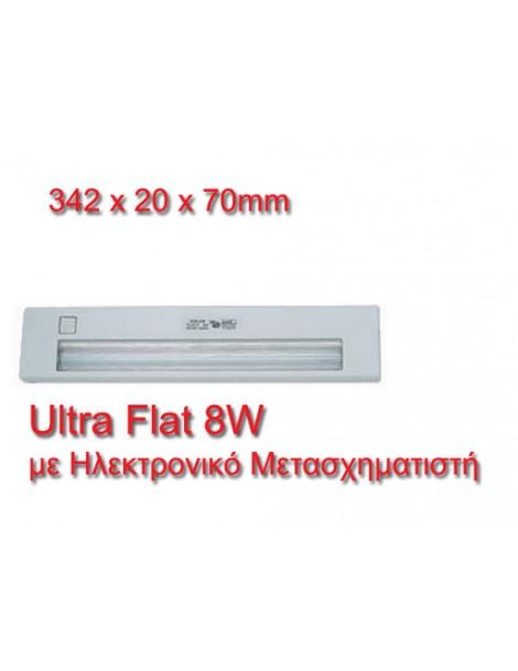Ultra Flat Φωτιστικό Φθορισμού 8W