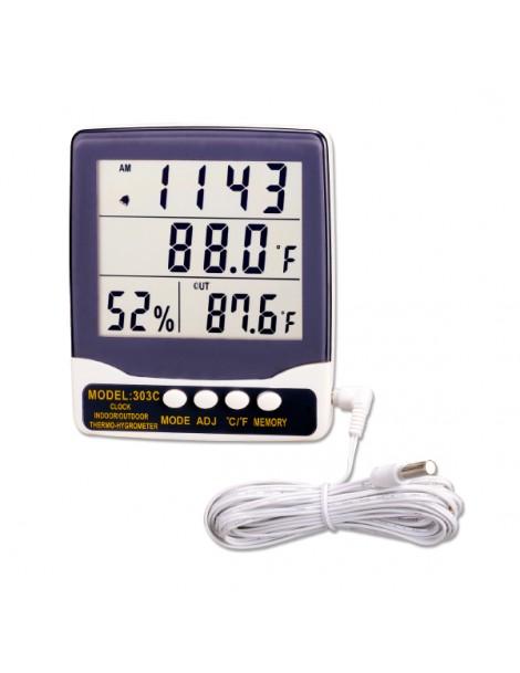 Ψηφιακό Θερμόμετρο 303C Υγρόμετρο Εσωτερικού/Εξωτερικου Χώρου