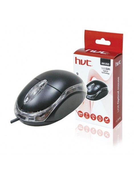 Ποντίκι AM-2525 HVT 1600DPI Black USB
