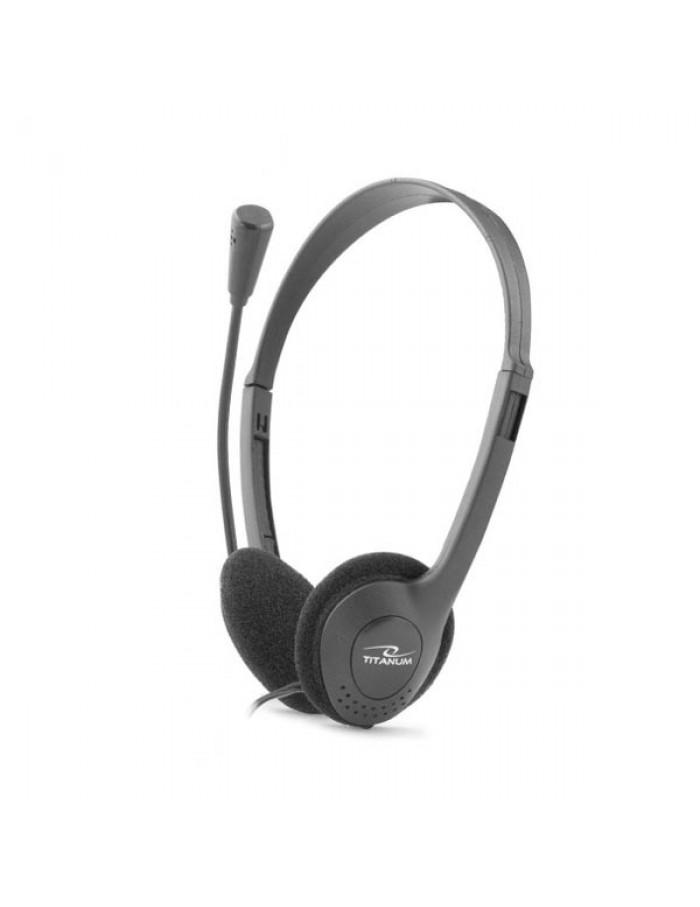 Ακουστικό με μικρόφωνο μαύρο