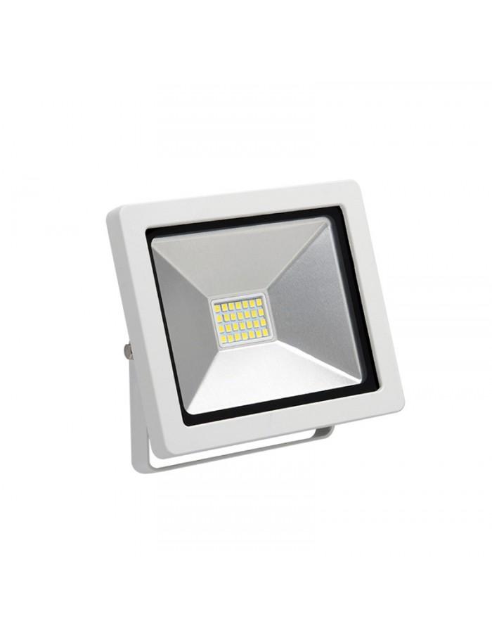 ΠΡΟΒΟΛΕΑΣ LED-SMD slim 20W 230V 3100K ΘΕΡΜΟ IP65 ΛΕΥΚΟΣ