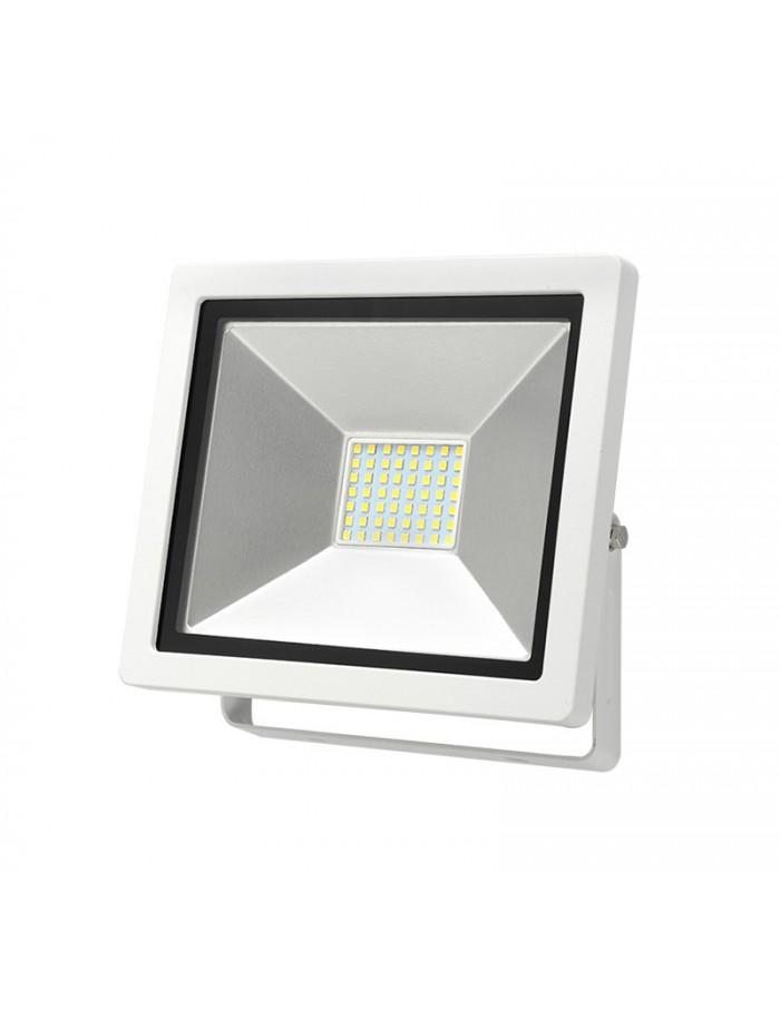 ΠΡΟΒΟΛΕΑΣ LED-SMD slim 30W 230V 6400K ΨΥΧΡΟ IP65 ΛΕΥΚΟΣ