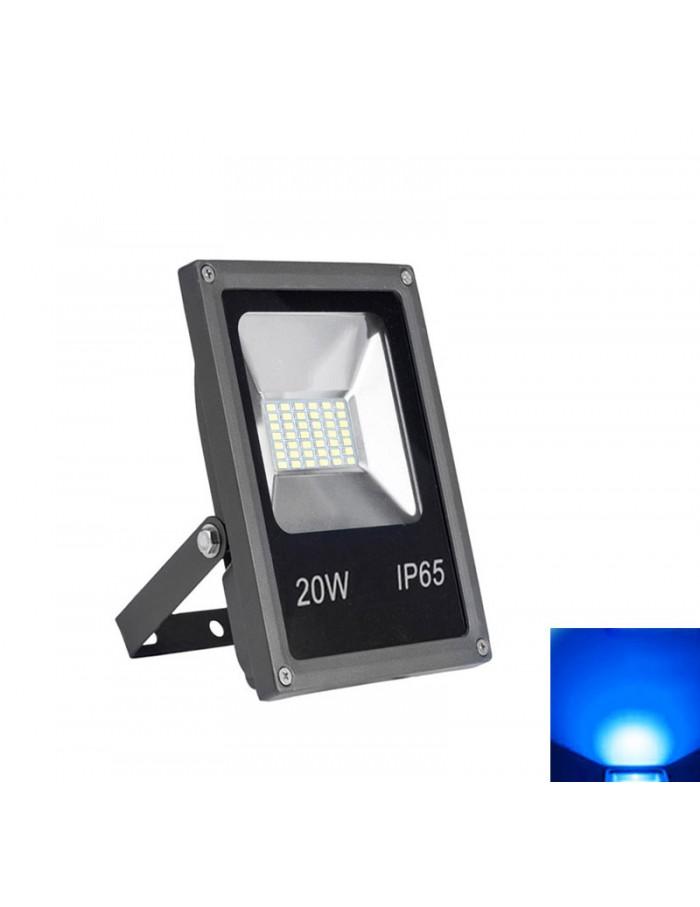 ΠΡΟΒΟΛΕΑΣ LED-SMD mini 20W 230V ΜΠΛΕ IP65 ΑΝΘΡΑΚΙ