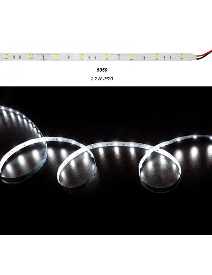 ΤΑΙΝ.LED ΛΕΥΚΗ ΑΥΤ. 12VDC 7.2W/m 30LED/m 5050 ΨΥΧΡΟ IP20