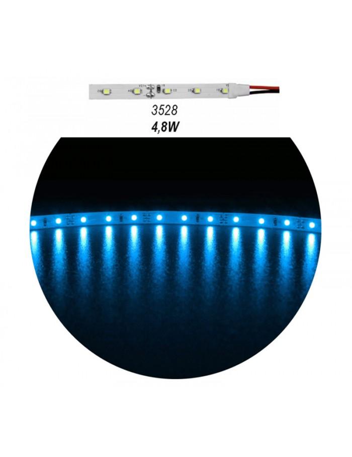 ΤΑΙΝ.LED ΛΕΥΚΗ ΑΥΤ.5m 12VDC 4.8W/m 60LED/m 3528 ΜΠΛΕ IP20