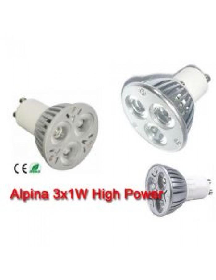 ALPINA 3X1W LED GU10 High Power