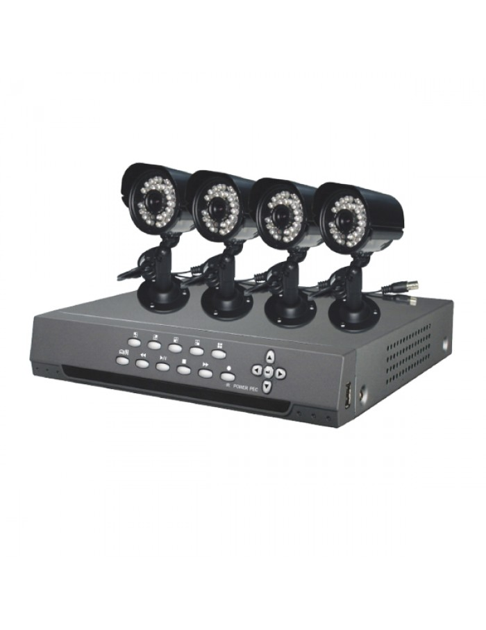 DVR KIT D4683HL+C3274VDx4 H.264 4ch With 4IR Κάμερες
