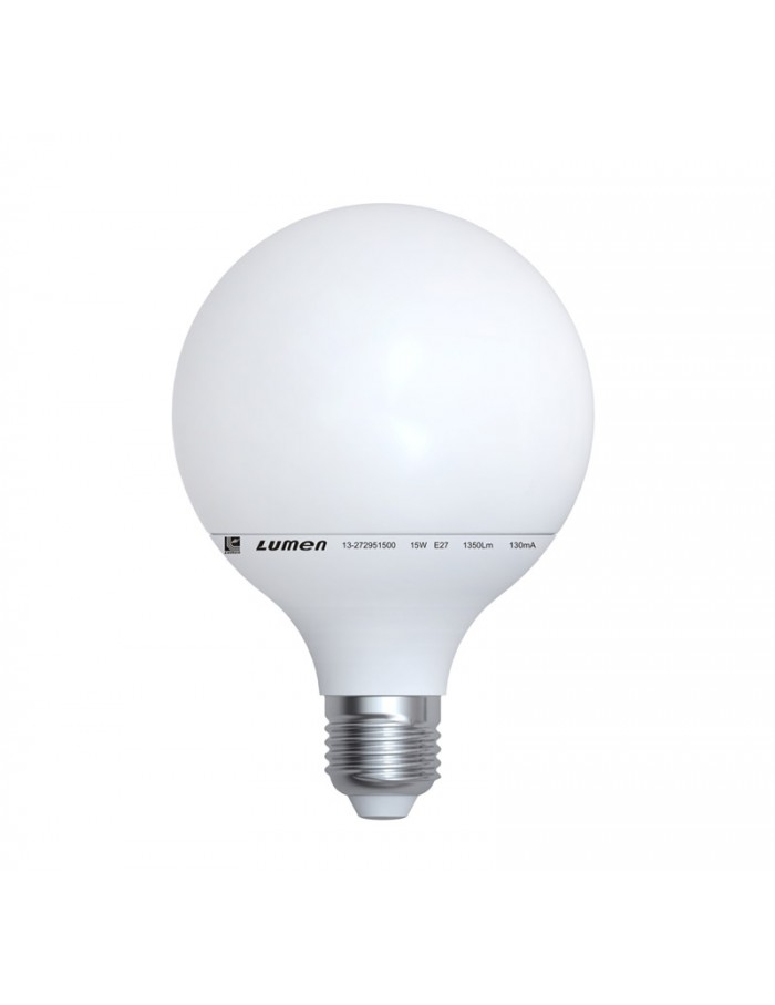 LED GLOBE Φ95 ΛΕΥΚΟ E27 15W 230V ΘΕΡΜΟ