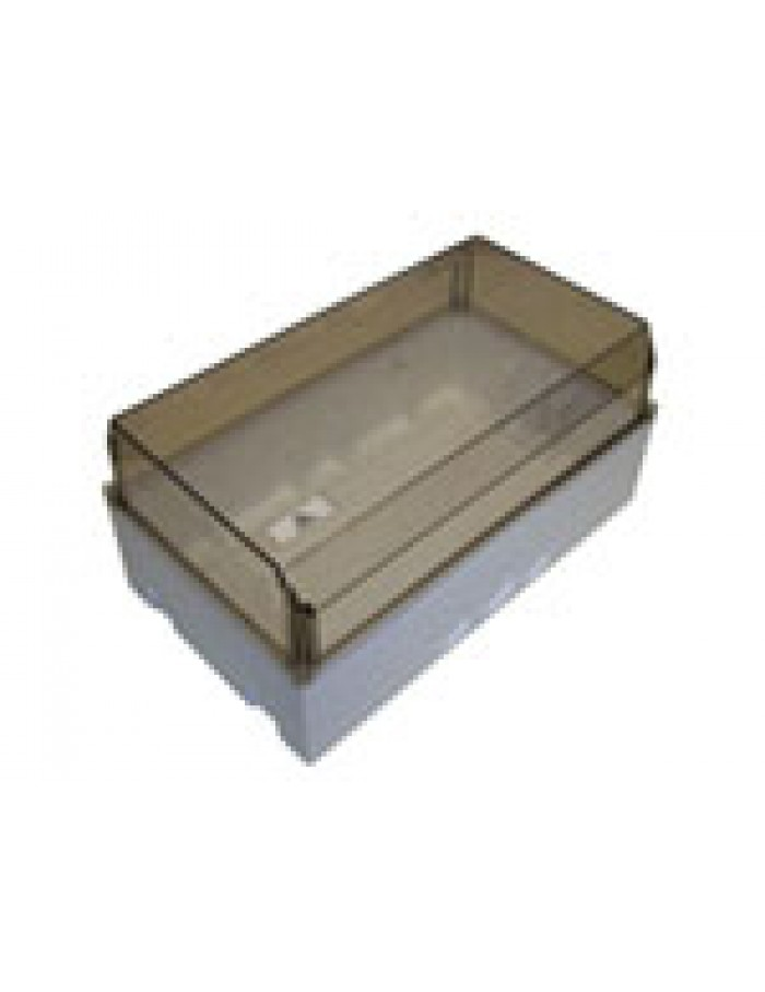 Κουτί στεγανό 28Χ16Χ13 με ΔΙΑΦΑΝΟ βιδωτό καπάκι  & 14 εισόδους διακλάδωσης IP54
